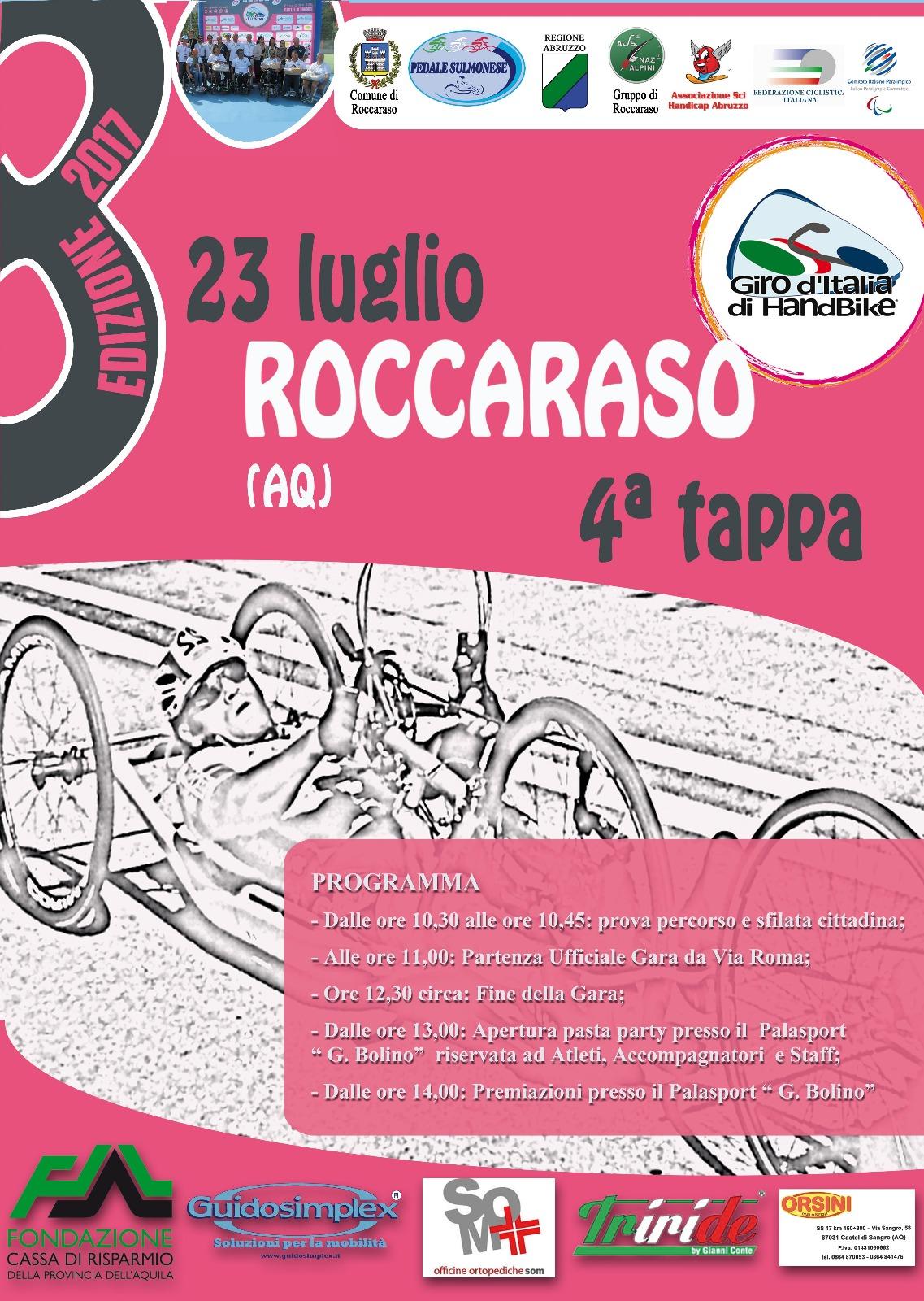 Giro d'italia di Handbike Roccaraso 23 luglio 2017