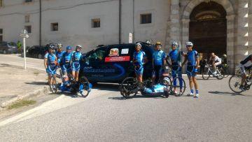Consegna Targa 4° tappa giro HandBike al Comune di Roccaraso