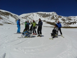Corso Tandemski Dualski Piloted, specializzazione maestri di sci, 26-29 aprile 2012 Campo imperatore L'Aquila