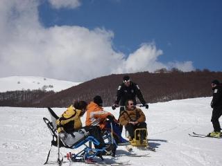 Corso Tandemski - Piloted Dualski per Maestri di Sci e Volontari ASHA 23-26 marzo 2009 - Roccaraso Aremogna